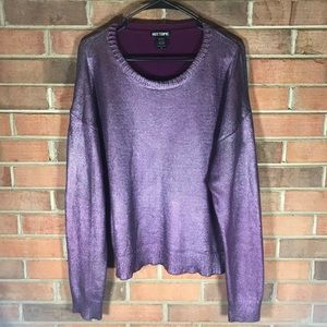 Peacock metallic knit sweater size XL Hot Topic